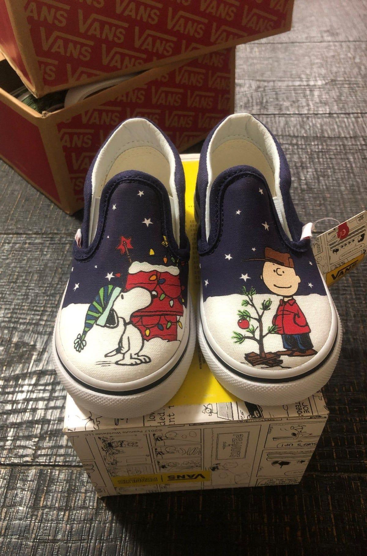 Christmas Vans Peanuts 2020 peanuts vans in 2020   Vans toddler shoes, Vans, Toddler shoes