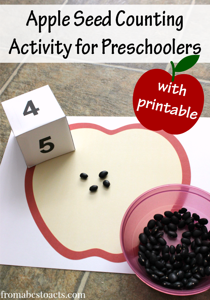 Printable Apple Seed Counting Activity   Counting activities ...