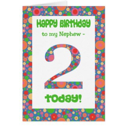 2nd Birthday Card For Nephew Bright And Bubbly