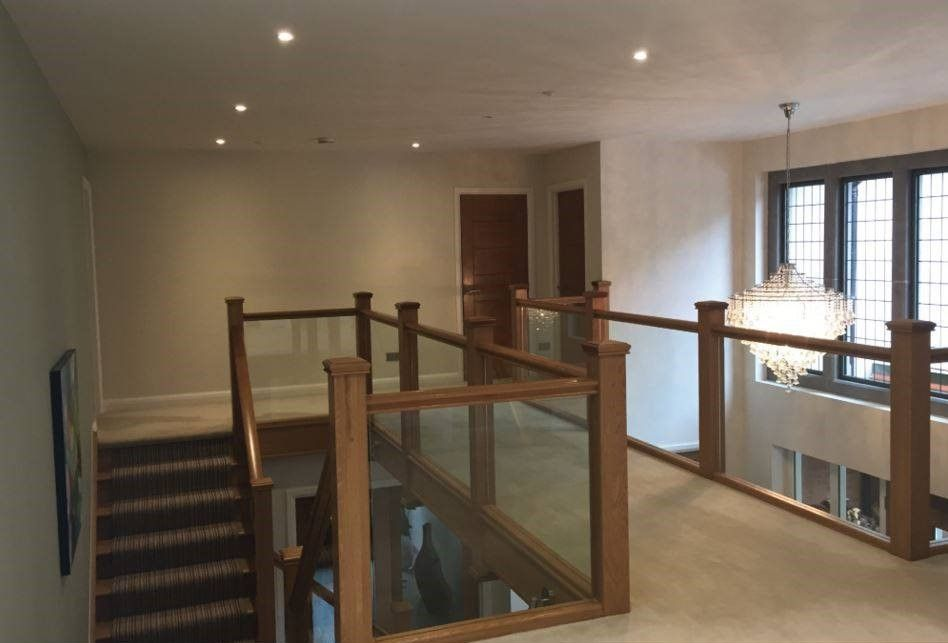 Best Beautiful Oak And Glass Landing Balustrade With Images 400 x 300