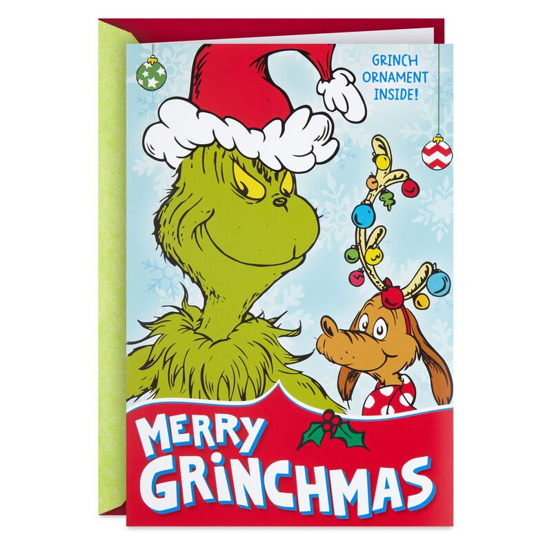 Dr Seuss S How The Grinch Stole Christmas Christmas Card With Decoration In 2021 Grinch Christmas Cards Grinch Stole Christmas Grinch Christmas Decorations