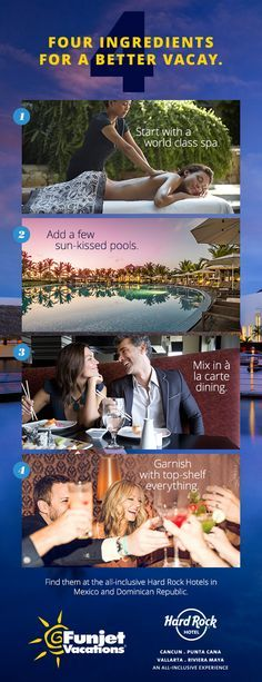 Funjet Vacations knows the perfect Hard Rock Hotel for your unforgettable all-inclusive vacation.