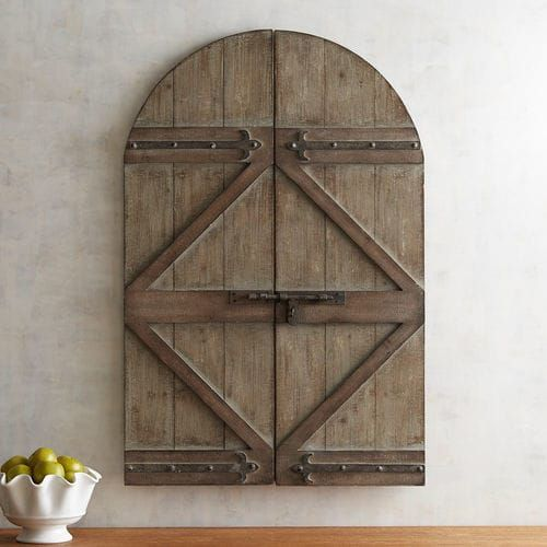Barn Door Arch Wall Decor Arched Rustic