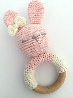 Gehaakte Rammelaar Konijn Haken Crochet Baby Crochet Baby