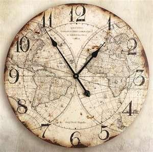 Pin by jennifer martel on indoor decor pinterest clocks wall clock old world mapsworld gumiabroncs Images