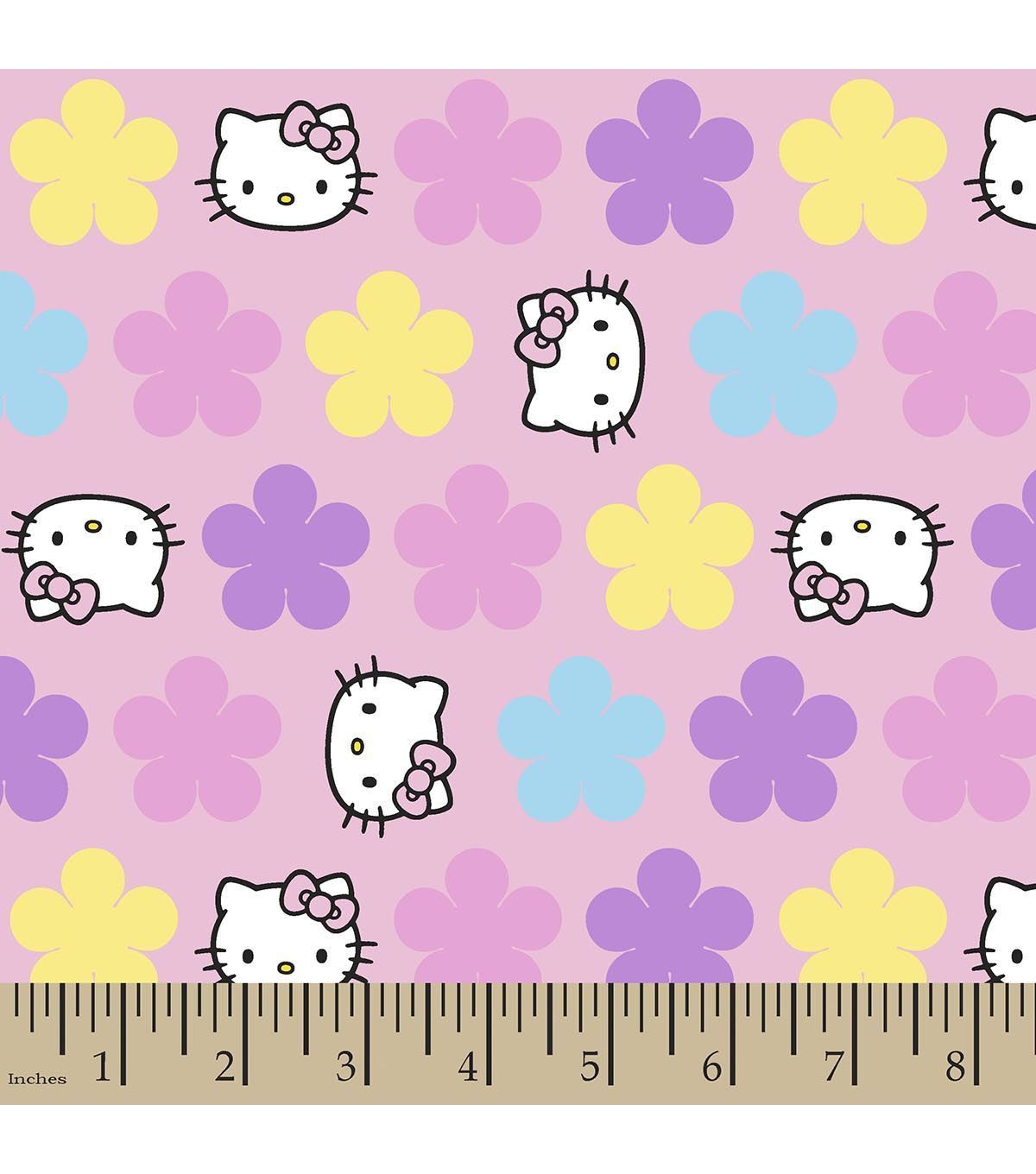 Sanrio Hello Kitty Pastel Flannel Fabric