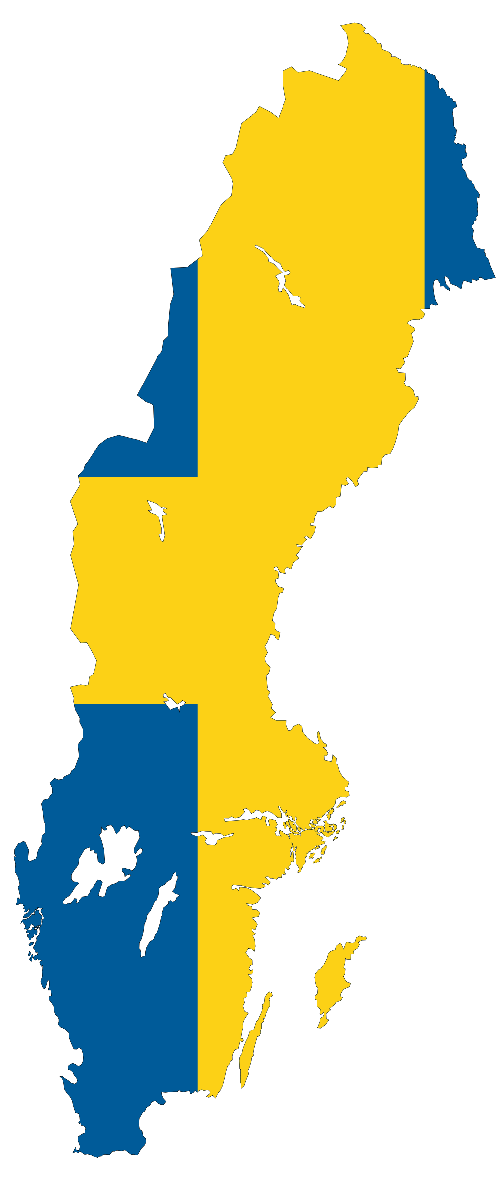 Sweden Flag Map Vlaggen Zweden