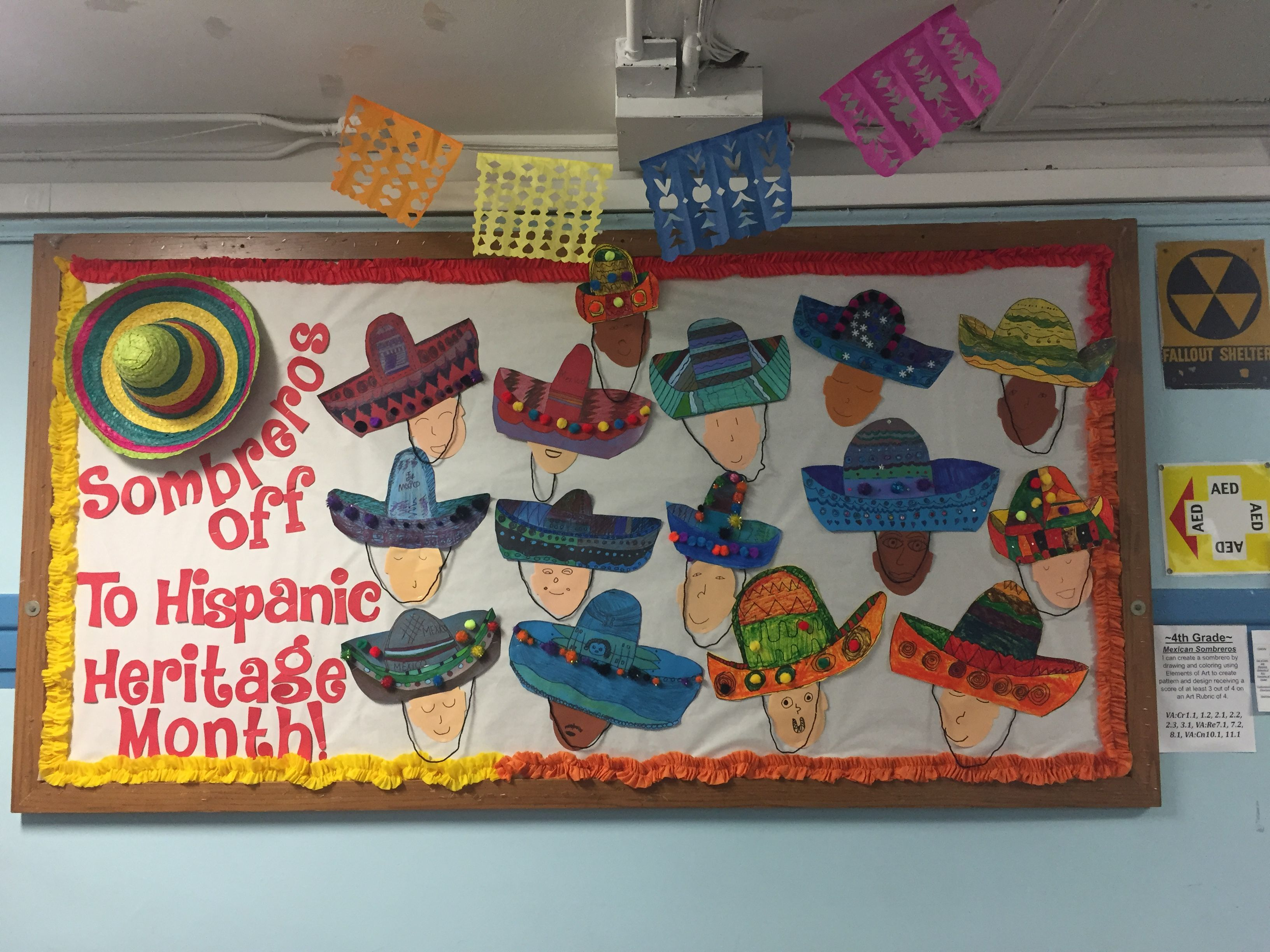 Hispanic Heritage Month Bulletin Board Sombreros Hispanic