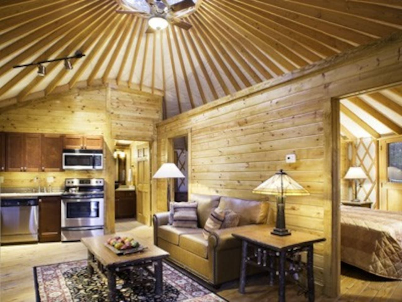 GLAMOROUS 2 BEDROOM YURT  SLEEP 6!   Yurts For Rent In Gordonsville,  Virginia