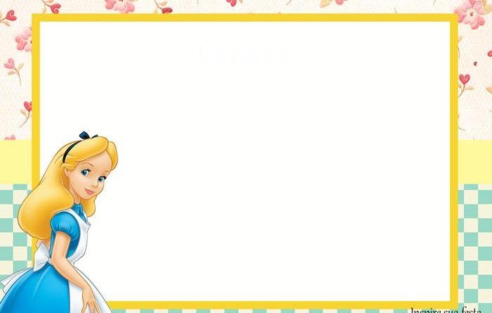 Convite Alice no País da Maravilhas