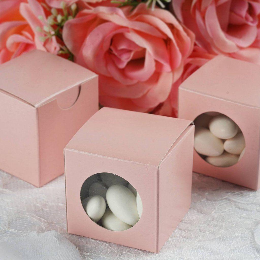 100 PCS Pink Ballotin Favor Boxes - 2\