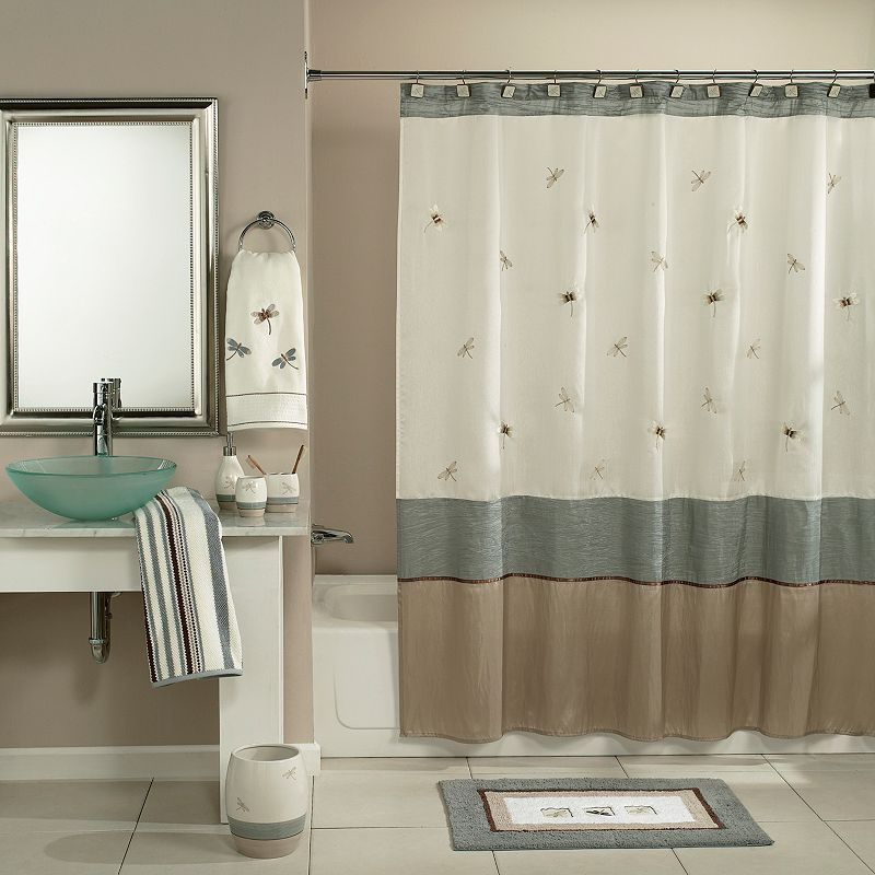 home classics shalimar dragonfly fabric shower curtain