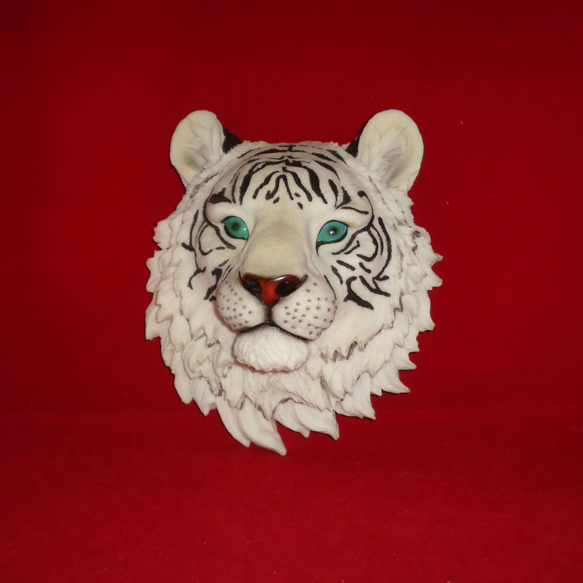 Stunning Beautiful Large White Tiger Wall Hanging