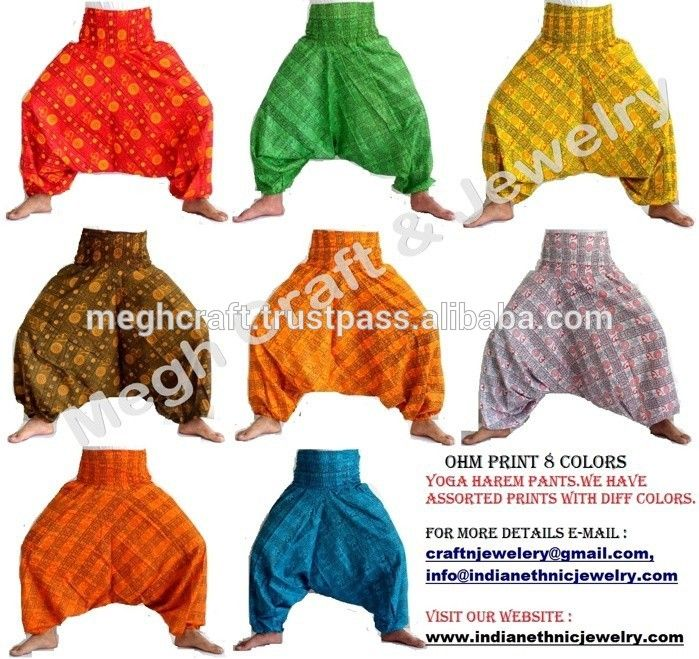 8014cd20 Yoga Pantalones Harem Genie Aladdin Gypsy Hippie de Boho Alibaba Elástico  Unisex Secret Santa Pantalones Hombres/Las Mujeres al por mayor de lot