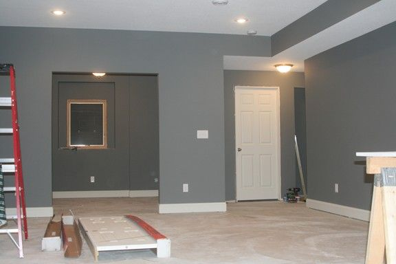 Painting Bulkheads In Basement Which Is Better White On Bottom Shown Here Basement Makeover Basement Remodeling Basement Colors