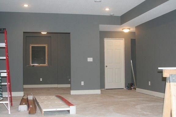 Painting Bulkheads In Basement Which Is Better White On Bottom Shown Here Basement Colors Basement Makeover Basement House