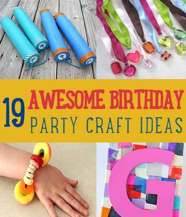 Birthday Party Crafts Birthday party ideas Birthdays and Craft