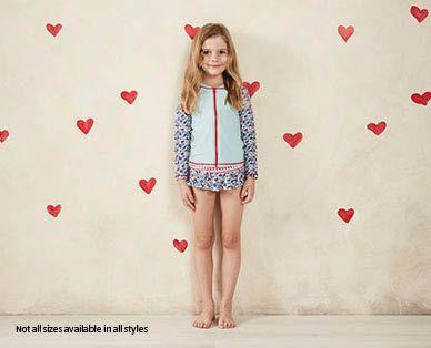 Little Girls Swimwear - Long Sleeve with Frill Pants - ALDI Australia