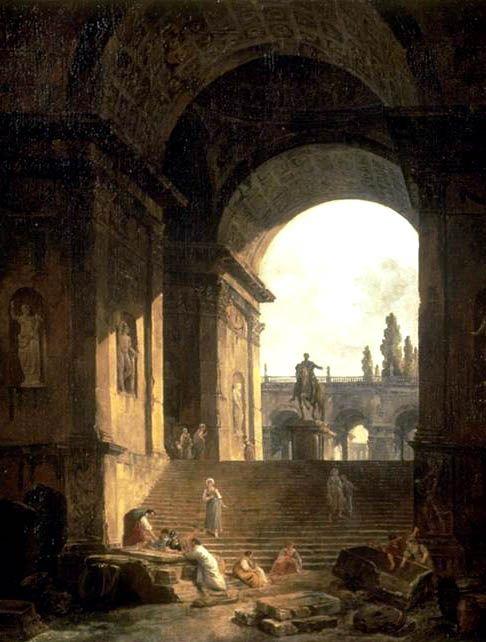 The Athenaeum - Caprice of the Roman Capitol (Hubert Robert - )