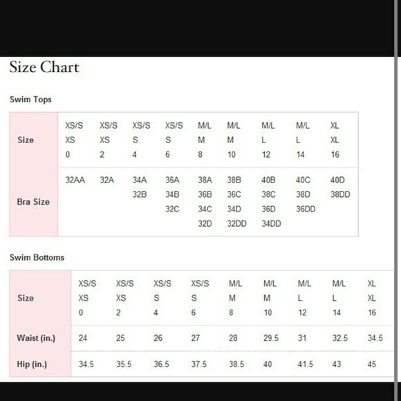Victoria Secret Size Chart Vs Swim S Thesurprise