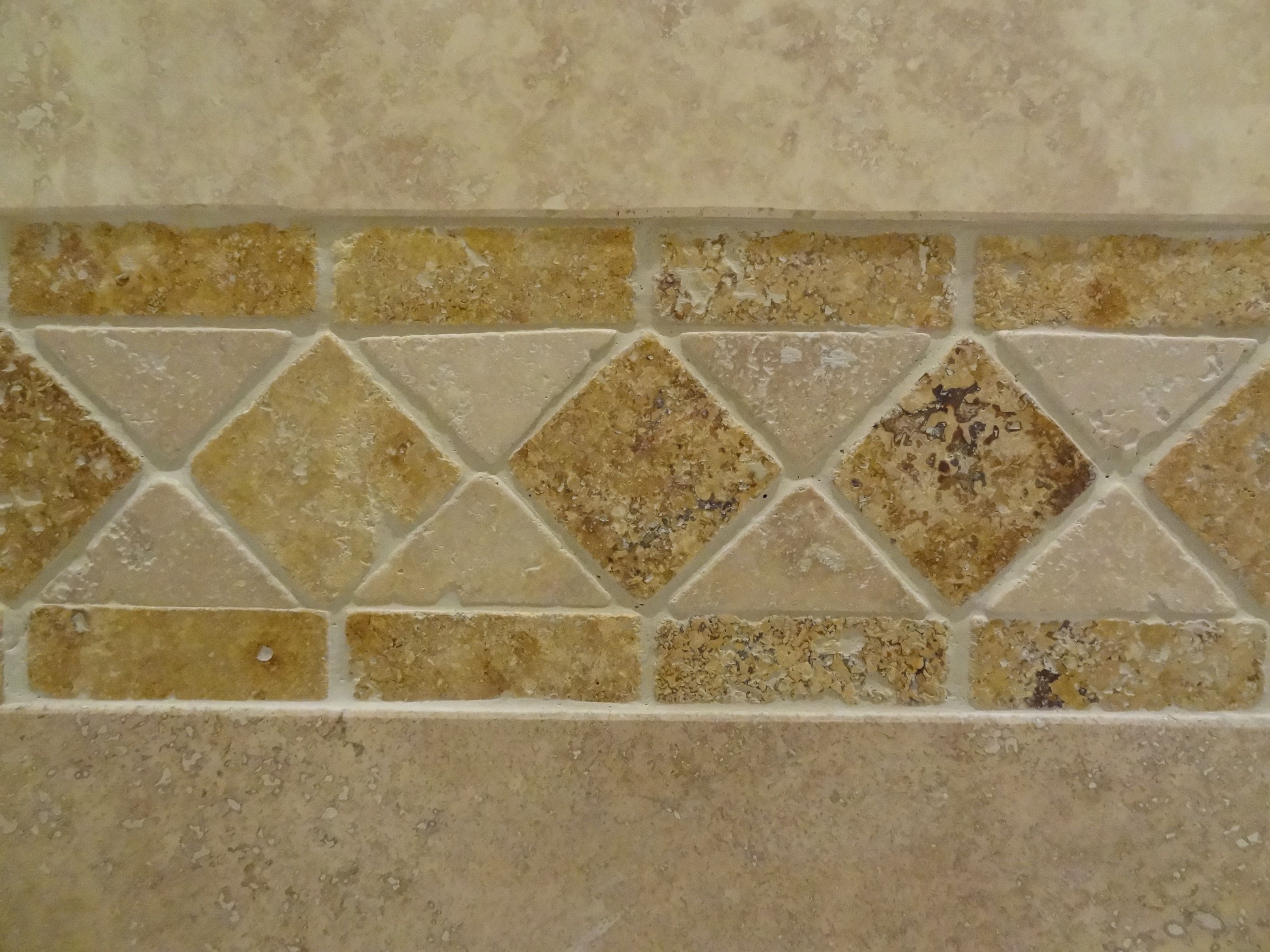 Our Own Travertine Tile Border Detail Travertine Tile Tiles