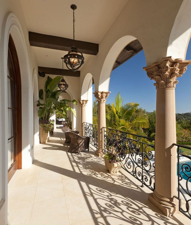 Mediterranean Ranch Style Homes: Elegant Montecito Home With Stunning Panoramas