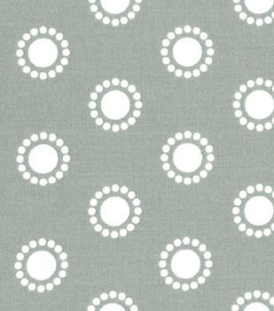 Quilter's Showcase™ Cotton Fabric-Circles Gray/White