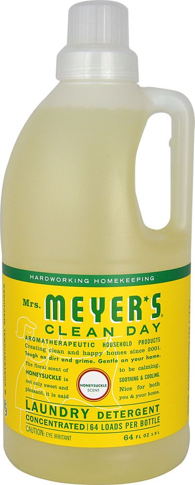 Mrs Meyer S Clean Day Laundry Detergent Honeysuckle 64 Fl Oz