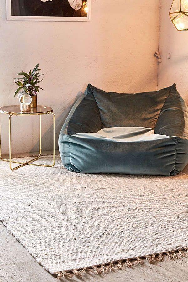 Modern Berber Rug Welcome Home Bean Bag Chair Living