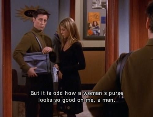 friends joey bag moments funny tv purse lol forever quotes