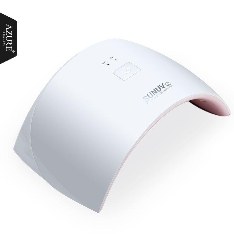 AZURE BEAUTY Led Lamp For Nail Gel Varnish 15 LEDs Light Manicure ...