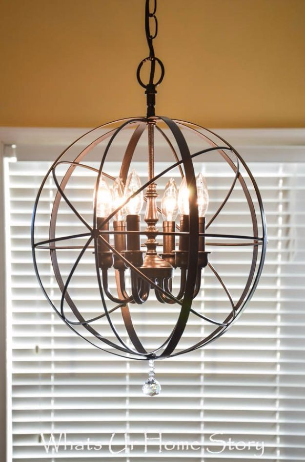 Diy Chandelier Makeovers Orb Easy Ideas For Old Brass Crystal And Ugly Gold Makeover Cool Before After Project