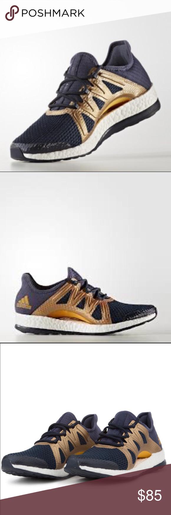 94caae147b51e Adidas Running PureBOOST Xpose size 8 Adidas Running PureBOOST Xpose. Size 8.  Color  trace blue tactile gold metallic legend ink.