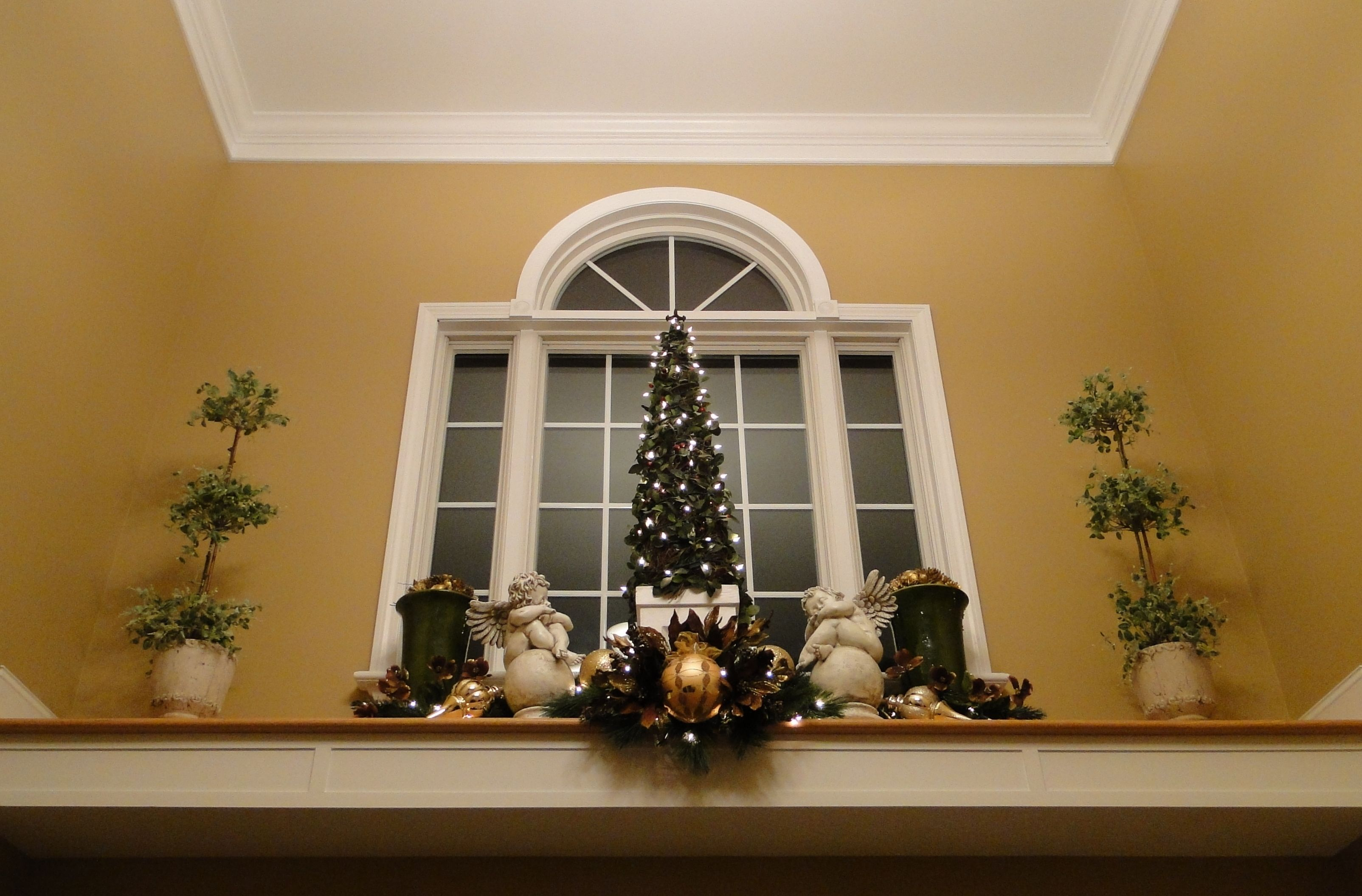 Use the small christmas tree we have for plant ledge for How to decorate