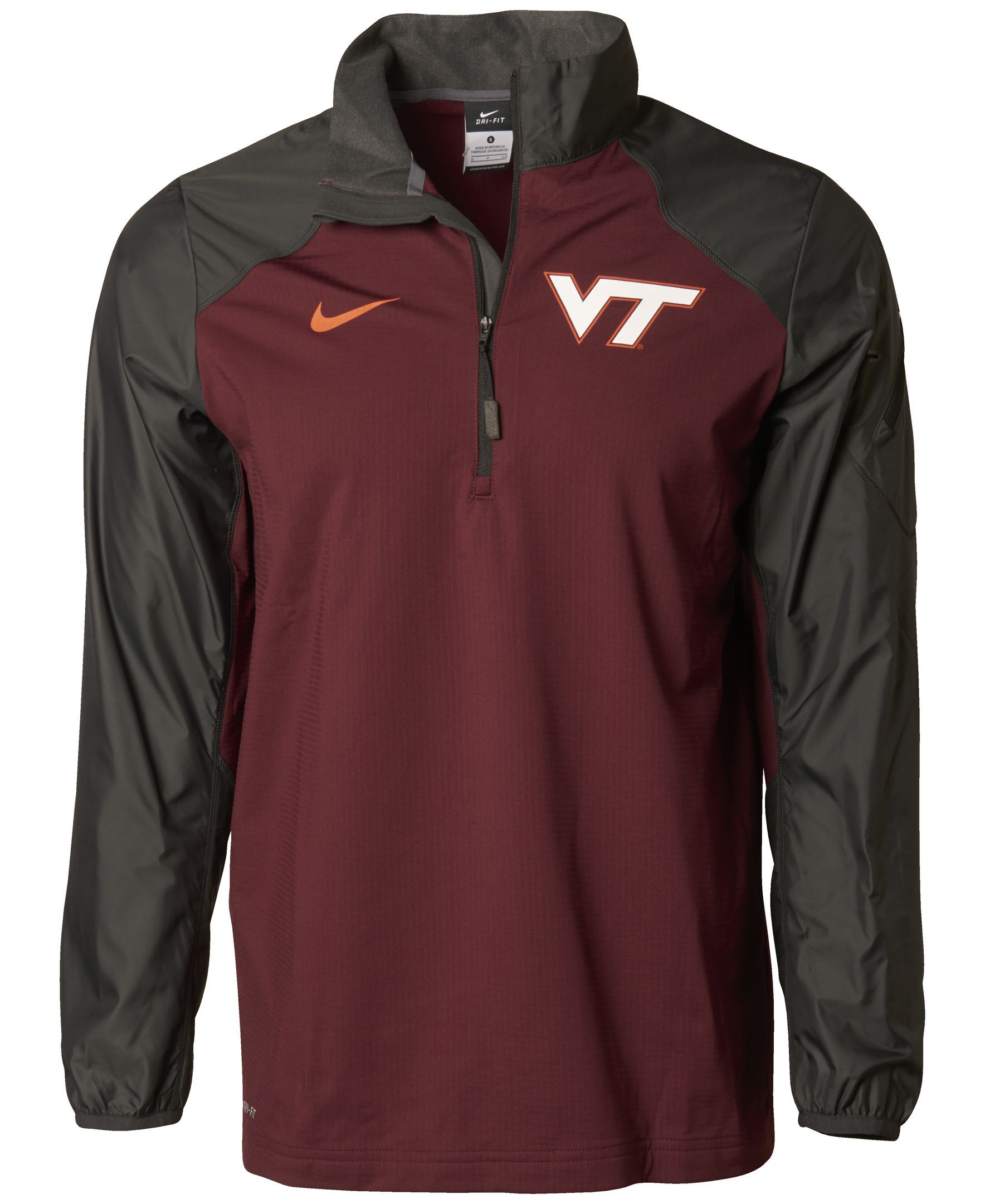 Nike Men s Virginia Tech Hokies Defender Hybrid Half Zip Pullover