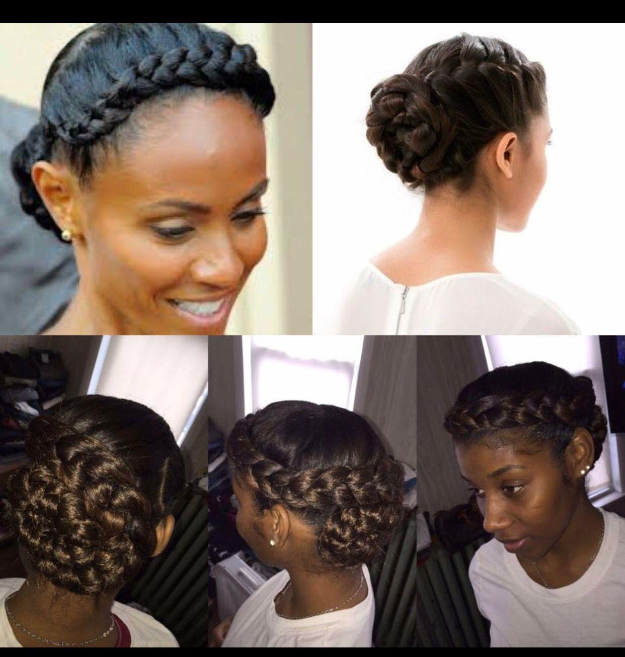 Black Wedding Hairstyles With Crown: Braided Hairstyles, Crown