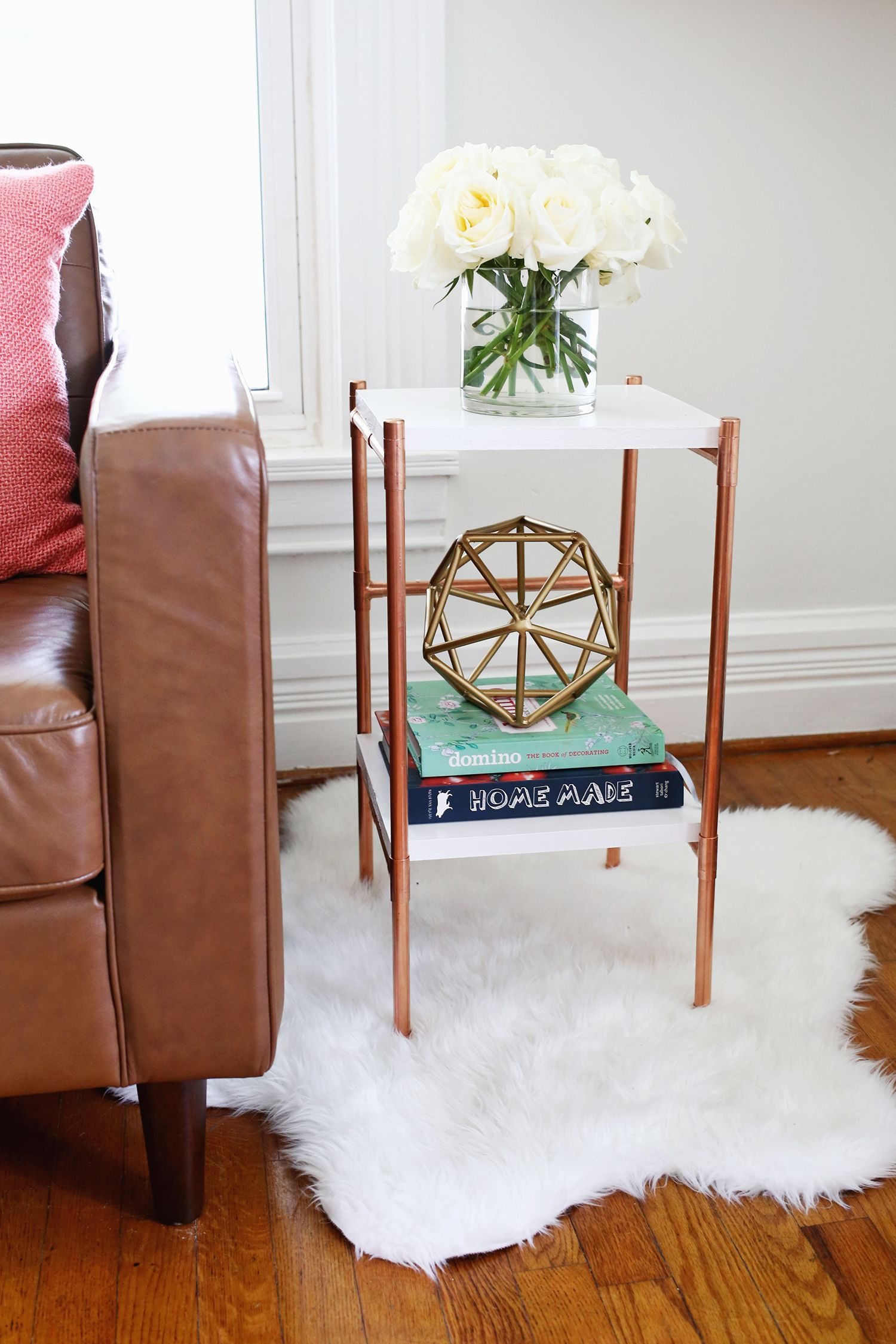 So Cute Copper Pipe Side Table Diy (Click Through For