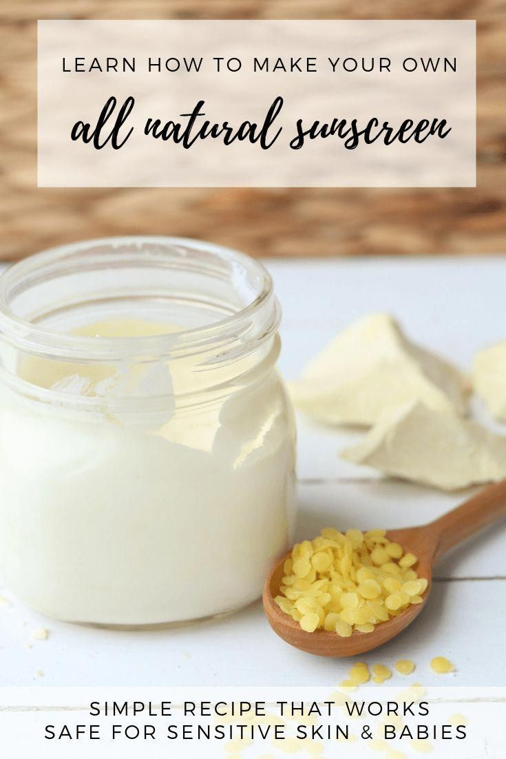 Learn how to make an alll natural diy suncreen that is safe for babies with this easy tutorial. #ouroilyhouse #diy #allnatural #sunscreen #homeamdesunscreen