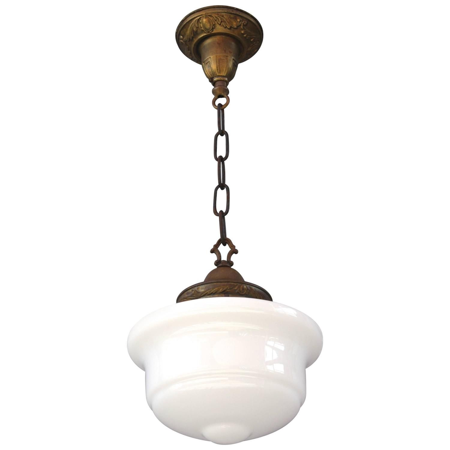 Unique Pendant Lighting Fixtures. 1920s Milk Glass Pendant Light Fixture  glass