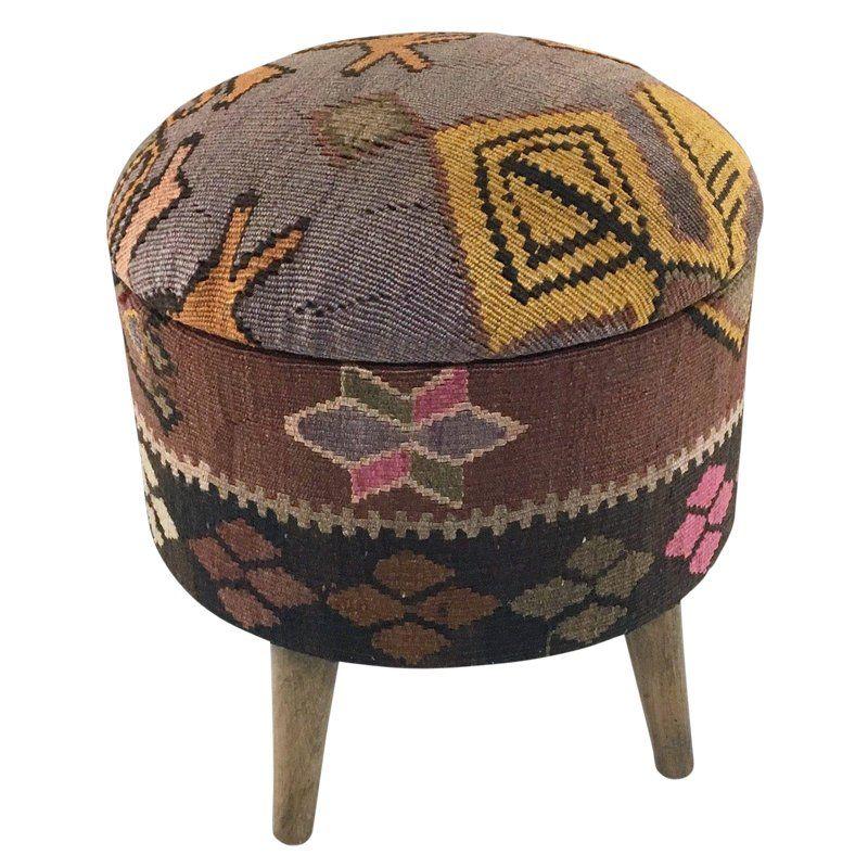 Round Kilim Pouf Pops Of Pink Kilim Ottoman Kilim Ottoman