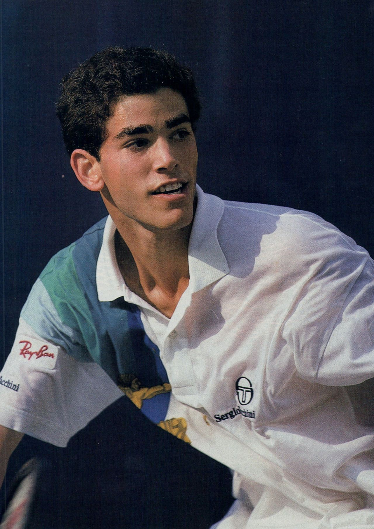 Pete Sampras in 1990 at the age of 19 He s wearing a Sergio