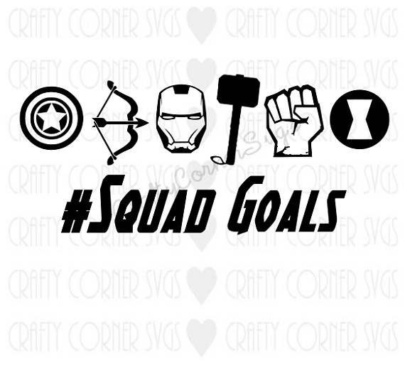 Superheros Squad Goals Svg Iron Etsy Cricut Projects Vinyl Squad Goals Svg
