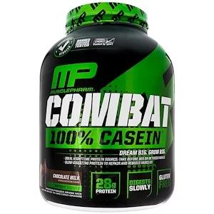 MusclePharm, Combat, 100 Casein, Chocolate Milk, 4 lbs