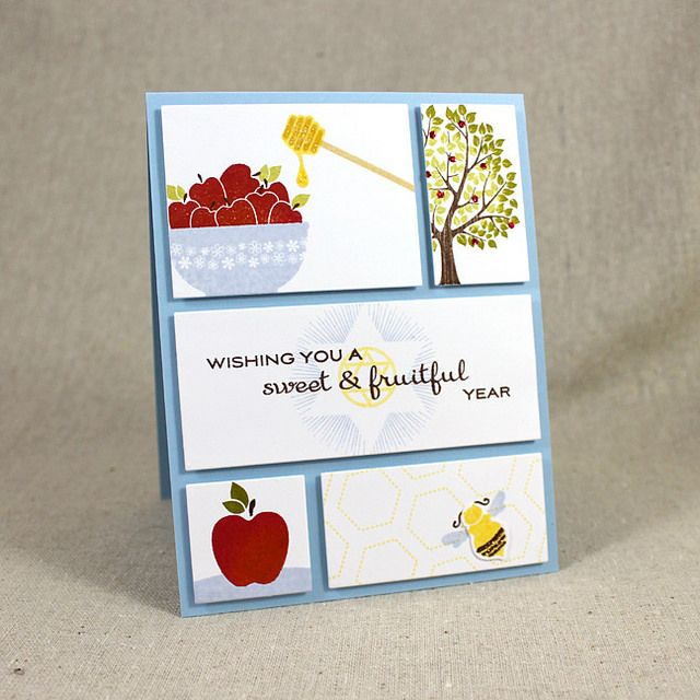 Rosh Hashanah Panels Card by Lizzie Jones for Papertrey Ink (July 2015)
