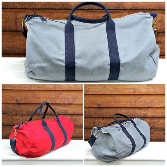 Overnight/Gym Duffel Bag Cotton Canvas Made in USA