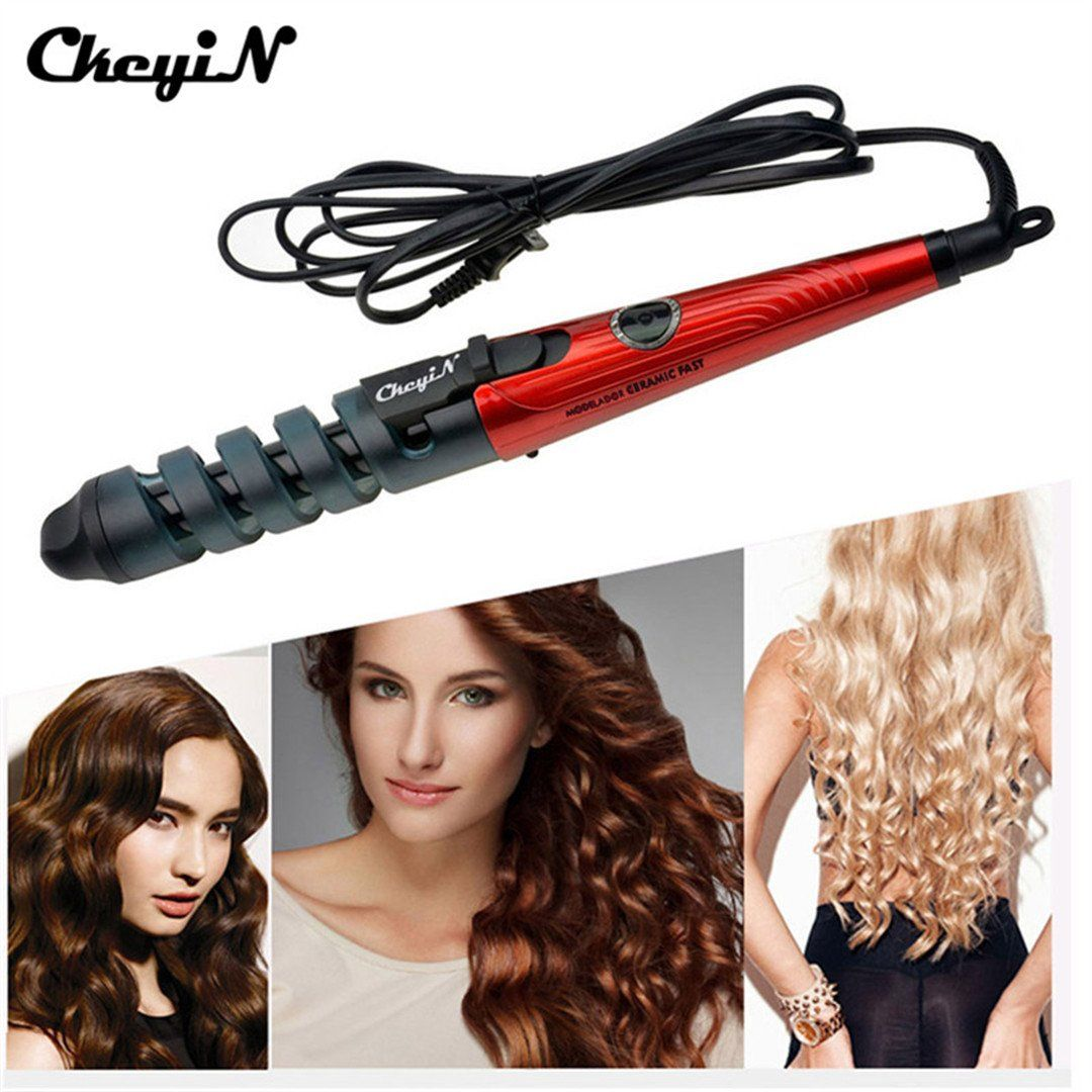 Hot 2m Cable Automatic Hair Curler Roller Curling Wand Iron Curl Styler Tools Machine Styling Perm Cu Hair Curlers Curling Iron Hairstyles Hair Curlers Rollers