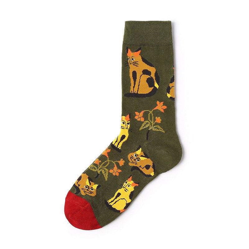Arty Cat Socks Socks, Flower fashion, Style
