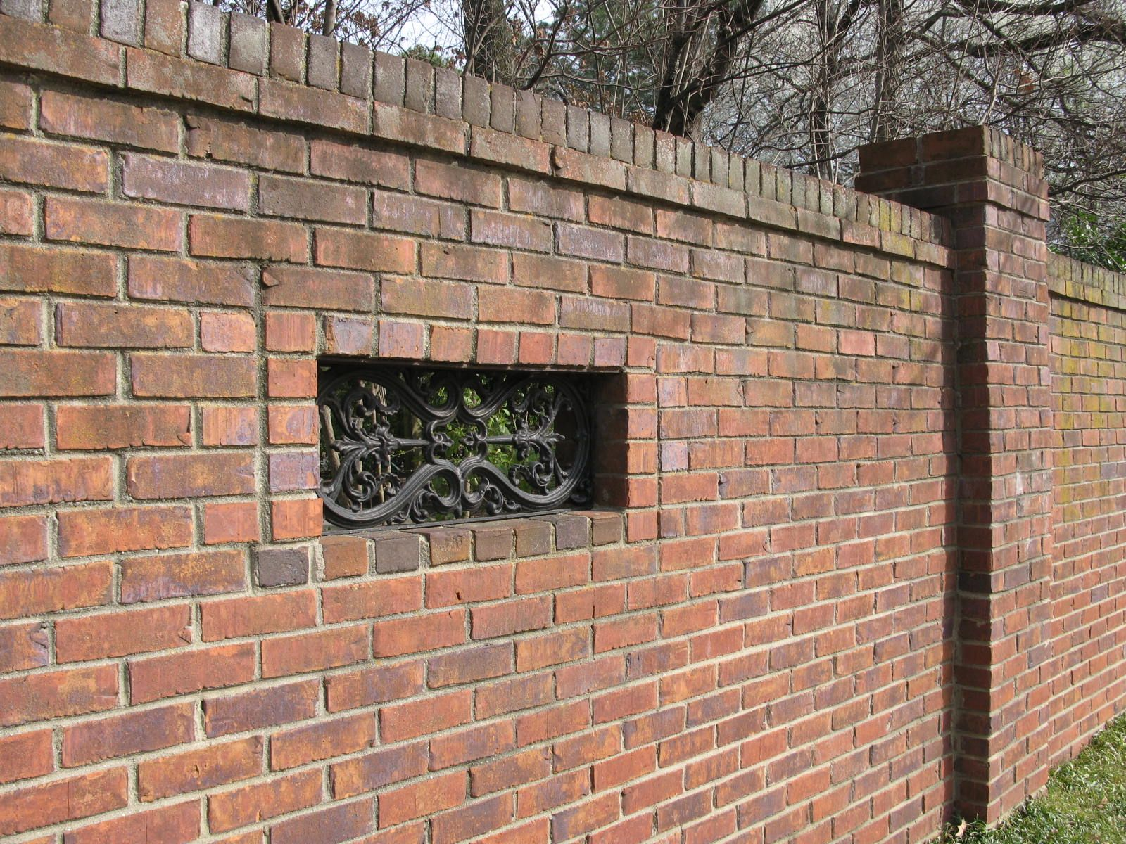 walls and fences as a design element - Brick Wall Fence Designs