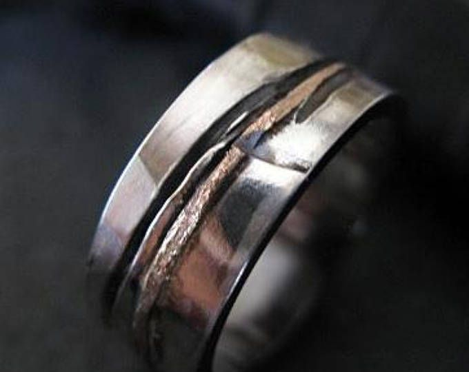 Mens Wedding Band 5mm Rustic Wedding Band Mens Wedding Ring Unique