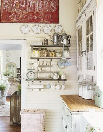 Restaurant Kitchen Metal Shelves 12 inspiring shabby chic kitchens | vintage kitchen decor, vintage